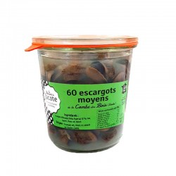 Escargots français en bocal